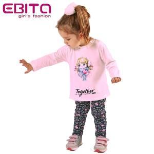 Σετ με κολάν κοριτσίστικο τύπωμα κασκόλ EBITA-Evita