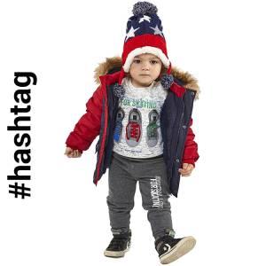 Φόρμα φούτερ για baby αγόρι με τύπωμα Skaiting Hashtag
