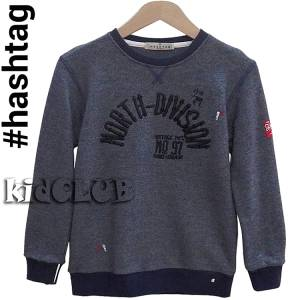 Μπλούζα φούτερ μακρυμάνικη αγορίστικη με απλικέ Hashtag