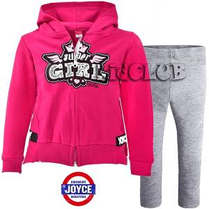 Φόρμα φούτερ με κολάν κοριτσίστικη με τύπωμα Girl JOYCE
