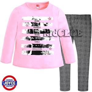 Σετ μπλούζα και κολάν κορίτσι με τύπωμα Sparkle Joyce