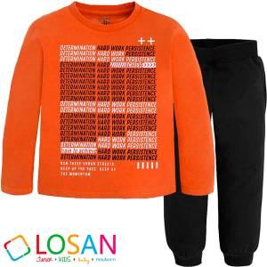 Σετ μπλούζα μακό και φούτερ παντελόνι αγορίστικο Losan