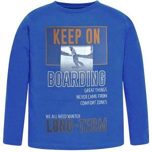 Μπλούζα μακρυμάνικη αγορίστικη με τύπωμα Boarding Losan