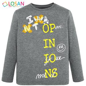 Μπλούζα μακρυμάνικη αγορίστικη με τύπωμα Open Losan