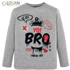 Μπλούζα μακρυμάνικη αγορίστικη με τύπωμα Rebel Losan