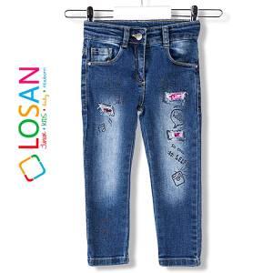 Παντελόνι μακρύ τζιν Slim fit κορίτσι Losan