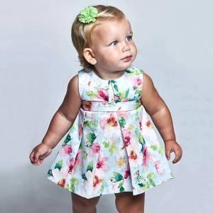 Φόρεμα ποπλίνα ριγέ κορίτσι Mayoral