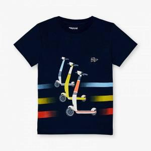 Μπλούζα με κοντό μανίκι για αγόρι με στάμπα eco Mayoral