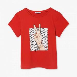 Μπλούζα με κοντό μανίκι για κορίτσι με τύπωμα winer Mayoral