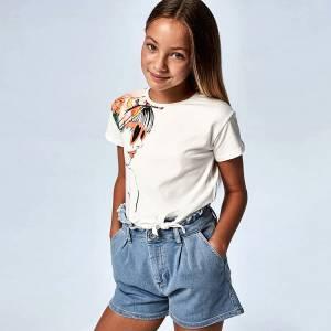 Παντελόνι κοντό τζιν κορίτσι Mayoral