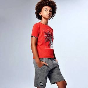 Σετ μπλούζα και βερμούδα αγόρι σταμπωτό Mayoral