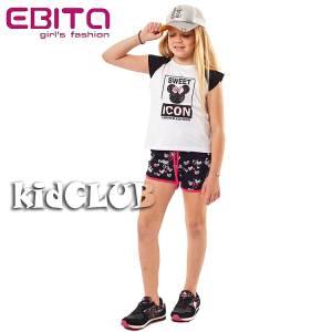 Σετ μπλούζα και σορτς κορίτσι σταμπωτό Sweet EBITA