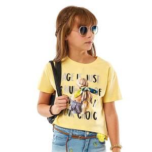 Μπλούζα κοντομάνικη κορίτσι σταμπωτή της ebita fashion