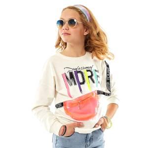Μπλούζα μακρυμάνικη κορίτσι σταμπωτή της ebita fashion