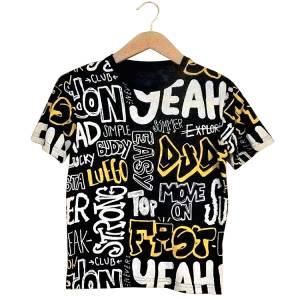 Μπλούζα με κοντό μανίκι για αγόρι σταμπωτό yeah Hashtag