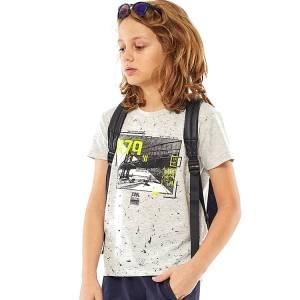 Μπλούζα με κοντό μανίκι για αγόρι σταμπωτό cool Hashtag