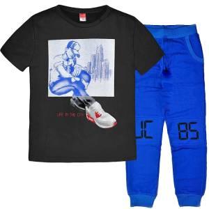 Σετ μπλούζα με μακρύ παντελόνι αγόρι με στάμπα player Joyce