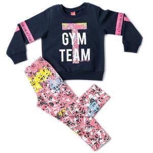 Σετ μακρυμάνικη μπλούζα και κολάν κορίτσι Gym Joyce