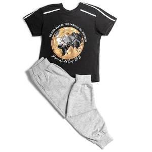 Σετ μπλούζα με μακρύ παντελόνι αγόρι με στάμπα soccer Joyce