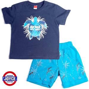 Σετ μπλούζα με βερμούδα παντελόνι αγόρι με στάμπα χελώνα Joyce