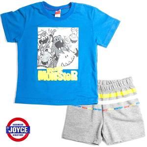 Σετ μπλούζα με βερμούδα παντελόνι αγόρι με στάμπα rock Joyce