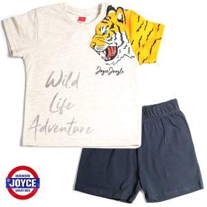 Σετ μπλούζα με βερμούδα παντελόνι αγόρι με στάμπα wild Joyce