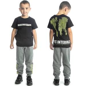 Σετ μπλούζα με μακρύ παντελόνι αγόρι με στάμπα Style Joyce
