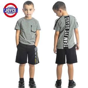 Σετ μπλούζα με βερμούδα παντελόνι αγόρι με στάμπα brand Joyce