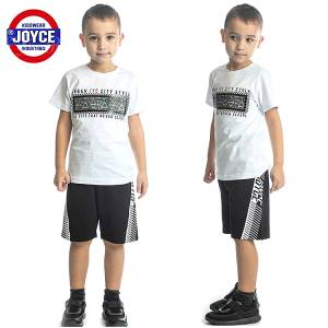 Σετ μπλούζα με βερμούδα παντελόνι αγόρι με στάμπα style Joyce