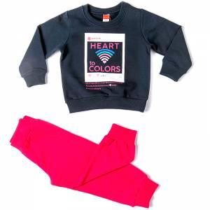Φόρμα για κορίτσι με στάμπα Colors Joyce