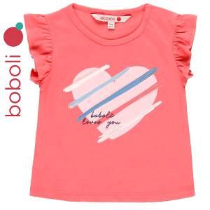 Μπλούζα αμάνικη κορίτσι σταμπωτή καρδιά της Boboli