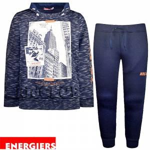 Φόρμα φούτερ αγορίστικη με στάμπα NY Energiers