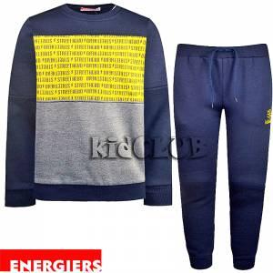 Φόρμα φούτερ αγορίστικη με στάμπα hero Energiers