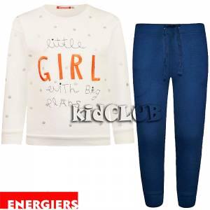 Φόρμα για κορίτσι σταμπωτή με κέντημα Girl Energiers