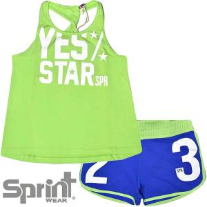 Σετ μπλούζα και σορτς κορίτσι Αστερίας Sprint