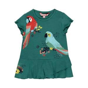 Φόρεμα σταμπωτό με ελαστικότητα Birds Boboli