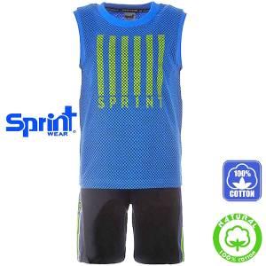 Σετ μπλούζα τιράντες με κοντό παντελόνι αγόρι με τύπωμα athletic Sprint
