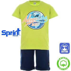 Σετ μπλούζα με κοντό παντελόνι αγόρι με τύπωμα adventure Sprint