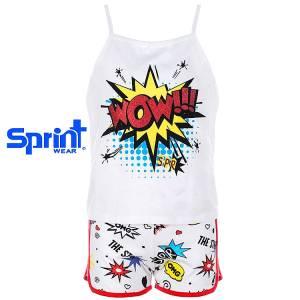 Σετ μπλούζα και σορτς κορίτσι με τύπωμα the star Sprint