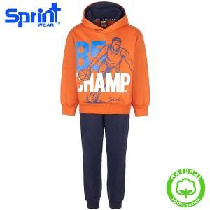 Φόρμα φούτερ αγορίστικη με τύπωμα Basket Sprint