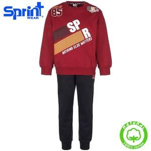 Φόρμα φούτερ αγορίστικη με τύπωμα Start up Sprint