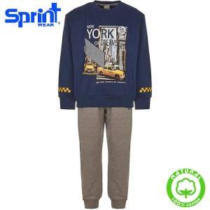 Φόρμα φούτερ αγορίστικη με τύπωμα Dreams Sprint