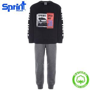 Φόρμα φούτερ αγορίστικη με τύπωμα Speed Sprint