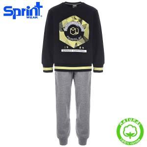 Φόρμα φούτερ αγορίστικη με τύπωμα Fair play Sprint