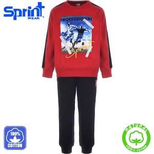 Φόρμα φούτερ αγορίστικη με τύπωμα Players Sprint