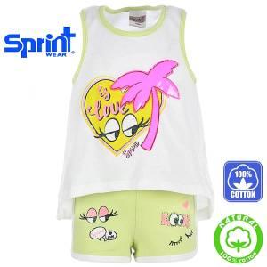 Σετ μπλούζα με κοντό παντελόνι κορίτσι Sun Sprint