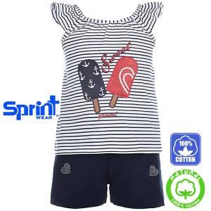 Σετ μπλούζα με κοντό παντελόνι κορίτσι Sport Sprint