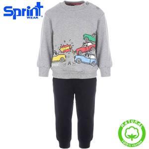 Φόρμα φούτερ αγορίστικη με τύπωμα Cars Sprint