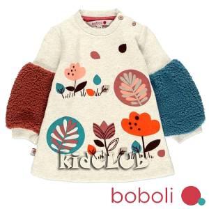 Φόρεμα κοριτσίστικο φούτερ σταμπωτό Boboli