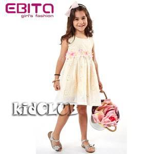 Φόρεμα για κορίτσι με διάτρητες λεπτομέρειες EBITA